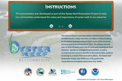 oyster restoration interactive program